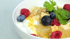 How to Make a Greek Yogurt Breakfast Bowl | Kick off the day with this protein-packed breakfast, from Health.com.