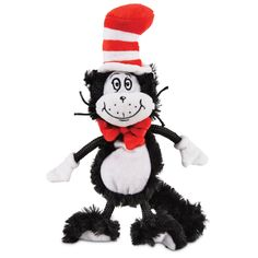 Dr. Seuss Cat In the Hat Flat Dog Toy | Petco