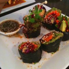 Raw sushi at Kind Living Cafe Maleny