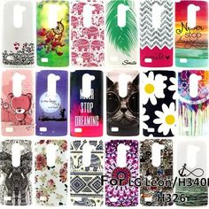 New Soft TPU IMD Painted case For LG LEON H340N H320 H324 Cartoon Bear Protector back cover for lg leon 4G Mobile phone housing