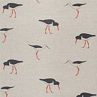 100% Scottish Linen - Oyster Catcher  Distributed by SterlingandKnight.com  Sandpiper Fabric exclusive To-The-Trade