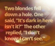 Dumb Blonde Jokes, Two Blondes, Funny Animal Quotes, Falling Down, Dumb And Dumber, Sarcasm, Humor, Humour, Moon Moon