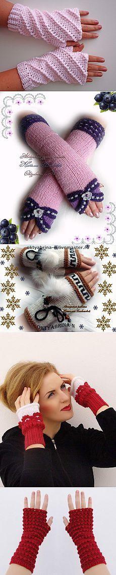Варежки,перчатки,митенки.. http://woman7.ru/rukol/vasanie-varegki/1408-mitenki-spicami.html