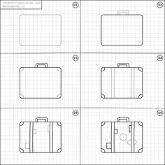 How to draw a suitcase.