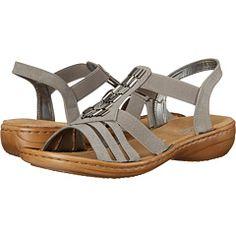 08199de4f7d Rieker 60800 Regina 00 Grey Sandals, Grey Shoes, Slip On Shoes, Fashion,