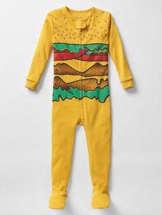 Burger footed sleep one-piece | Gap