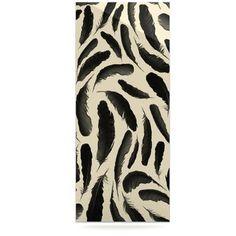 "KESS InHouse Feather Pattern by Skye Zambrana Graphic Art Plaque Size: 20"" H x 16"" W"