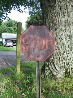 Rusted Stop Sign