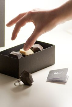 """Bisù is a nickel free silver ring equipped with a """"stylized fork"""" ending. It can be used alone or it can be completed """"sticking"""" your favourite chocolate-precious stones or fresh fruit gelèes."""