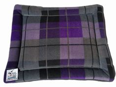 Purple Plaid Dog Bed, Cat Table Pad, Cat Cushion, Small Pet Bedding, Crate Liner, Kennel Cover, Puppy Bed, Pet Travel Items, Lap Pad #SmallPetBedding #KennelCover #SmallCrateMat #PlaidDogBed #PuppyBed #PetChairCushion #CatTablePad #LapPad #CrateLiner #PetTravelItems