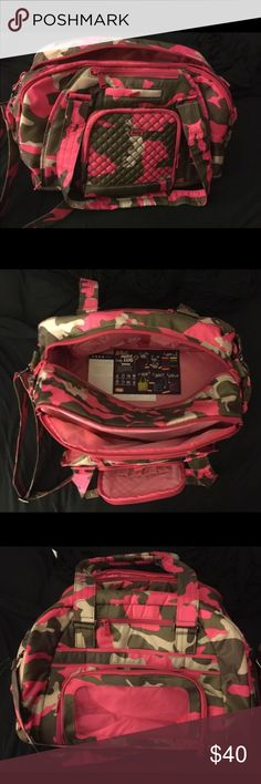 Pink Camouflage Lug Weekender Bag Includes All Original Tags and Papers Lug Bags Travel Bags