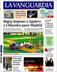 Diario LA VANGUARDIA del 7 de Marzo 2015 Recordamos que pueden visualizar cada día las principales portadas titulares ocurridos en España - Catalunya - Barcelona en http://www.youtube.com/vendopor
