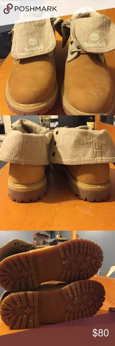 Women's Timberland Roll Down Boot Size 9 in women's. They are only a year old and have been worn only twice. They are very comfortable and very fashionable. Perfect to wear in the Fall weather! Timberland Shoes
