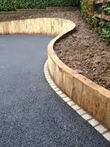 Image result for railway sleepers retaining wall More