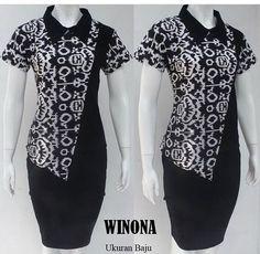 Batik Fashion, Fashion Sewing, Work Fashion, Batik Blazer, Blouse Batik, Model Dress Batik, Batik Dress, Batik Couple, Model Kebaya