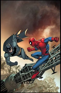 Batman vs Spider-Man by Marte Gracia