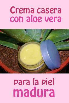 Buenísima crema casera con aloe vera para la piel madura #mascarilla #pielmadura #antiarrugas