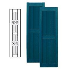 12 X 55 Builders Choice Vinyl Open Louver Window Shutters W Shutter Spikes S
