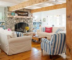 Create a cozy, country living room with these rustic decorating ideas. These colors, furniture items, and materials will inspire you to create a rustic living room that feels warm and inviting to your friends and family.