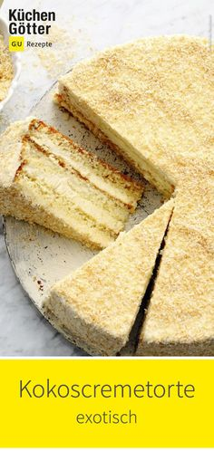Exotic aromas of coconut and rum give this cream cake a very special note. We'll show you the recipe. Holiday Desserts, No Bake Desserts, Easy Desserts, Dessert Recipes, Cheesecake Recipes, Dessert Simple, Banana Dessert, Oreo Dessert, Dessert Food