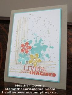 petite petals and gorgeous grunge from Stampin' Up!
