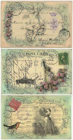 Antje Bongartz Vintage Labels, Vintage Ephemera, Vintage Postcards, Decoupage Vintage, Vintage Paper, Vintage Pictures, Vintage Images, Diy Note Cards, Paper Art