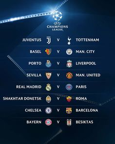 UEFA Champions League 2017/2018 Last-16 draw has been made