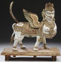 Kamadhenu or Surabhi, Tamil Nadu, wood with polychrome, c. A sphinx. Indian Traditional Paintings, Sphinx, Sculptures, Lion Sculpture, Art Pictures, Art Pics, India Art, Thai Art, Fantasy Inspiration