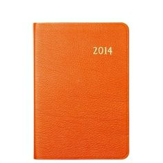 2014 Daily Journal, Brights Leather Agenda Calendar