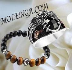 Doğal Taş Erkek Bileklik Oniks Taşı ve Kahve Kaplan Gözü Taşlı #bileklik #silver #moda #fashion