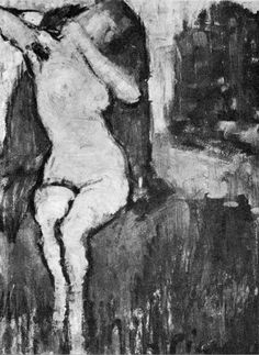"""Pablo Picasso - """"Nude sitting"""", 1922"""