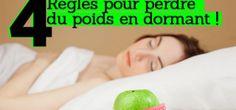 4 règles pour perdre du poids en dormant…
