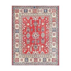 Shop for Herat Oriental Afghan Hand-knotted Tribal Vegetable Dye Kazak Wool Rug (5'2 x 6'6). Get free delivery at Overstock.com - Your Online Area Rugs Shop! Get 5% in rewards with Club O!