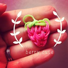 Berry cute Rainbow Loom strawberry