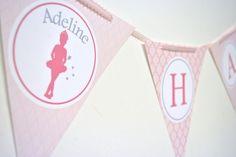 Ballerina Princess Party Banner Bunting by TheGreenGrassGrows, $25.00
