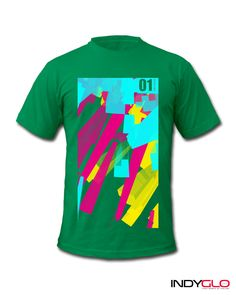 Shards 01 Green Mens T-Shirt - £23.99 - Only from #Indyglo.