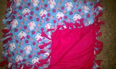 Hello Kitty Fleece Throw Tie Blanket by FalinasCrafts on Etsy, $25.00