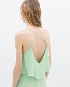 MAXI DRESS WITH LOW - CUT BACK - Dresses - WOMAN | ZARA United States