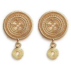 Chloé 'Isaure' metal lacework earrings