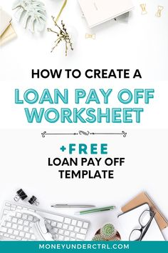 Learn How to become debt free and finally have zero debt. This loan payoff worksheet is the best way to pay off debt and start living debt free. In addition to showing how to create a loan payoff worksheet you can download a completed version for FREE. So if you need a debt payoff plan - you're in the right place. After using this template you will have no debt in no time! Let us help you get out debt for FREE! credit debt | payong off debt | debt management #payoffdebt #studentloans #debt Debt Repayment, Debt Payoff, Debt Consolidation, Financial Tips, Financial Planning, Creating Passive Income, Free Credit, Student Loan Debt, Budgeting Tips