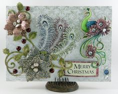 Peacock Christmas Card by Candy S. - Cards and Paper Crafts at Splitcoaststampers