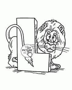 Letter L - Alphabet coloring pages for kids, ABC printables free - Wuppsy.com