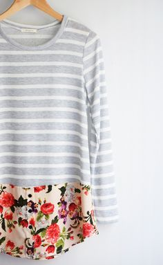 Stripe + Floral Tunic