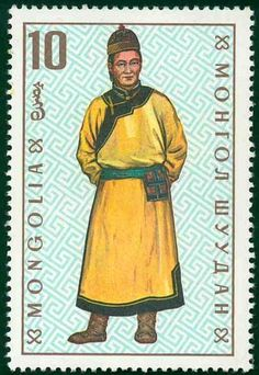 Mongolia Stamp - National Costume