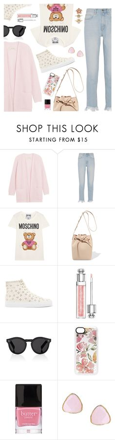 Casual Look by dressedbyrose on Polyvore featuring By Malene Birger, Moschino, M.i.h Jeans, Simone Rocha, Mansur Gavriel, Ottoman Hands, Accessorize, Illesteva, Casetify and Christian Dior