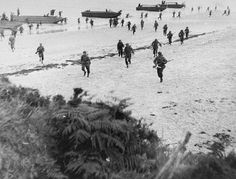 British troops land on the beaches of Normandy on D-Day...