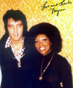 """Myrna Smith - """"He asked me if I had seen a movie called 'Across 110th Street', & I said """"No."""" Since I hadn't seen the film, Elvis said, """"Let me tell you about it."""" He started telling me the story. He did all the characters, the dialogue, the whole film, from beginning to end. It took him as long to tell it as it took the film to run! I never saw that movie, but, you know, I don't ever need to, 'cause he told me the whole thing."""" Myrna Smith, The Sweet Inspirations."""