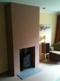 Image result for false chimney breast log burner