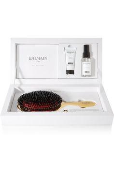 Balmain Paris Hair Couture   Gold boar bristle brush & haircare set   NET-A-PORTER.COM