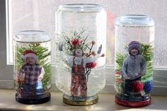 Whether you're knee-deep in snow or somewhere balmy, snow globes bring the magic of winter right into your hands. Making your own is a great holiday project to take on with kids. Here are a few DIY snow globe projects: one without water, one in a light bulb, and one that puts the kids right into the action.